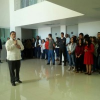 Bienvenida del rector a comunidad estudiantil, personal docente y administrativo, cuatrimestre enero 2017