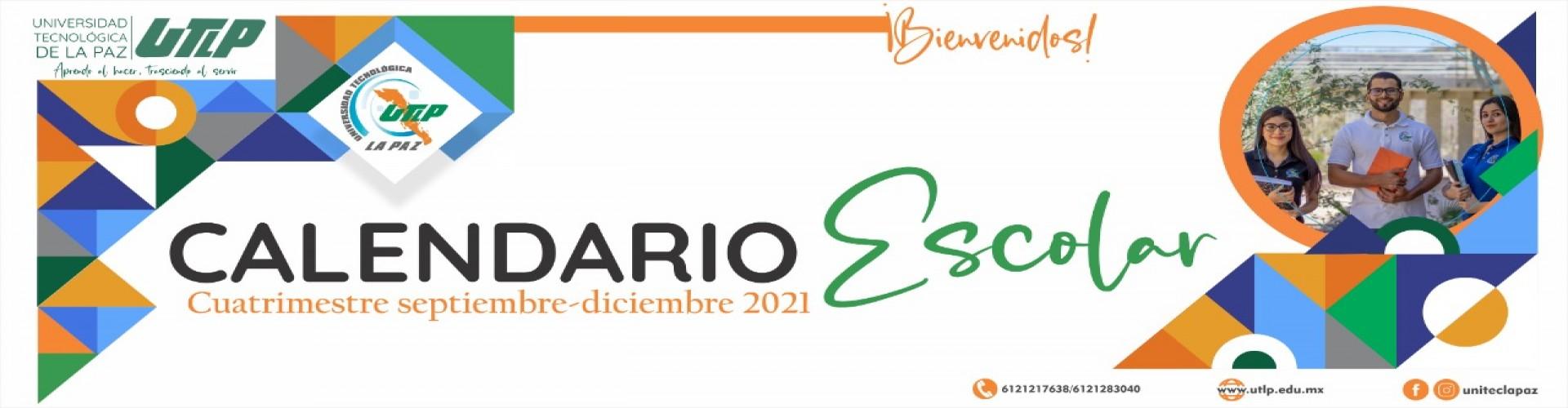 CALENDARIO ESCOLAR SEP - DIC 2021
