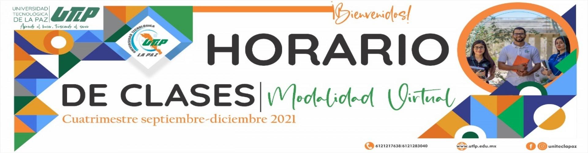 Horarios grupales del cuatrimestre Septiembre  - Diciembre 2021
