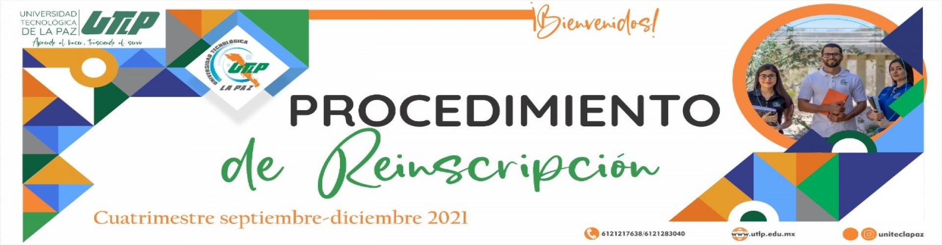 Procedimiento de reinscripción SEP-DIC 2021