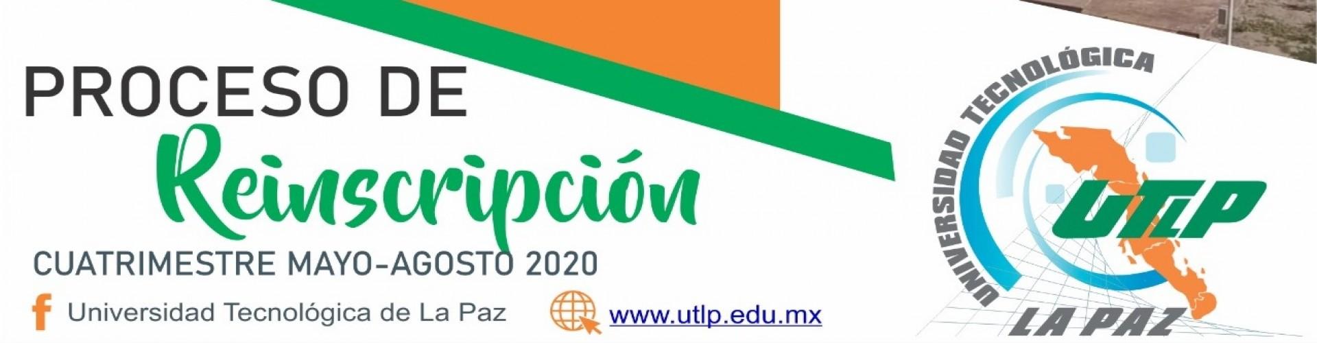 Proceso de re inscripción al cuatrimestre Mayo-Agosto 2020