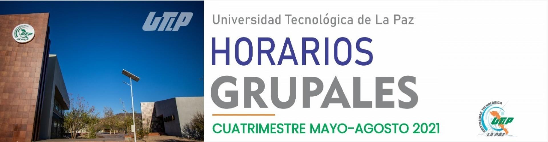 Horarios grupales del cuatrimestre Mayo - Agosto 2021