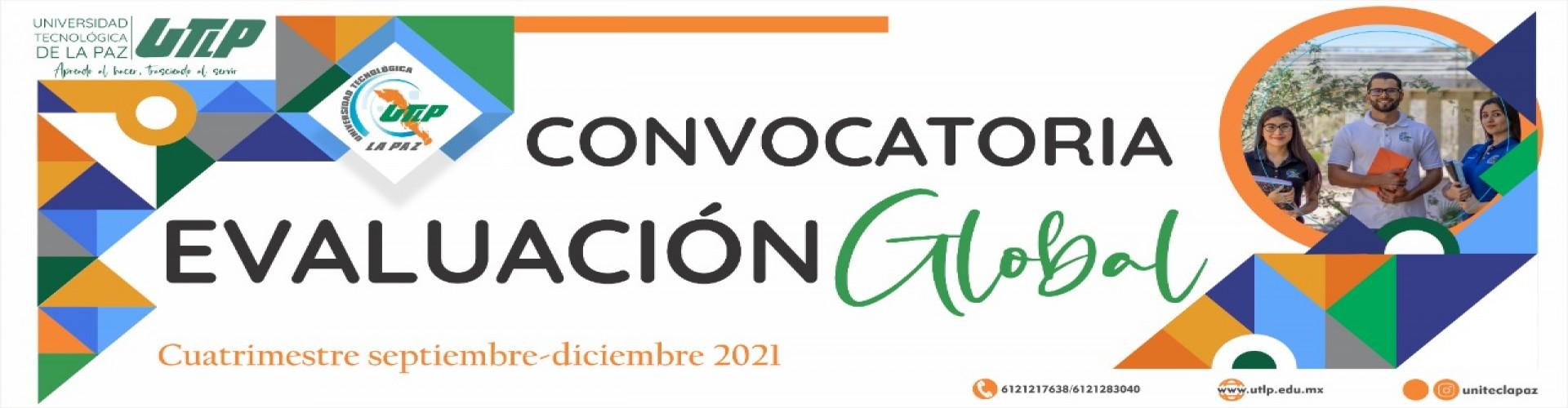 Convocatoria Evaluación Global Sep - Dic 2021